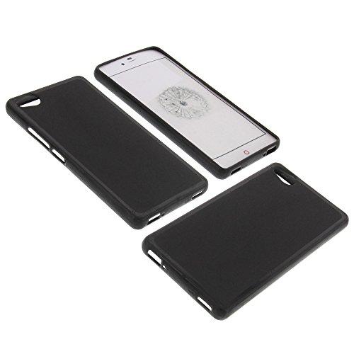 foto-kontor Tasche für ZTE Nubia Z9 Mini Gummi TPU Schutz Hülle Handytasche schwarz