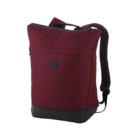 Rada Rucksack RS/36, Freizeitrucksack mit Lapto Tablet Fach, DIN A4 Ordner kompatibler Daypack für Mädchen und Jungen, wasserabweisender Daypack, Damen und Herren, Freizeit (Bordeaux 2 Tone Cognac)