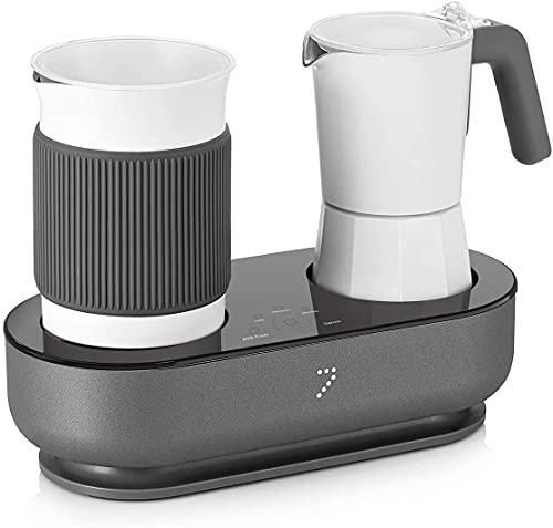 SEVEN&ME Coffee Machine, Espresso Machine with Milk Frother, Make Latte, Cappuccino, Macchiato in 3 Minutes, Coffee Maker Electric Moka Pot, Enjoy Barista-quality Espresso at Home