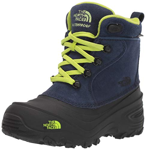 The North Face Youth Chilkat Lace 2, Chaussures de Randonnée Hautes Mixte Enfant, Bleu (Cosmic Blue/Lime Green 5uk), 33.5 EU