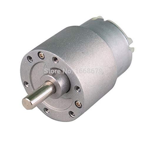 WSCHENG 37ES-500 eléctrico de 12 voltios DC Motorreductor DC 12v 6v 3.5-500RPM Reducción Invertida Motor (Speed(RPM) : 12v 15rpm)