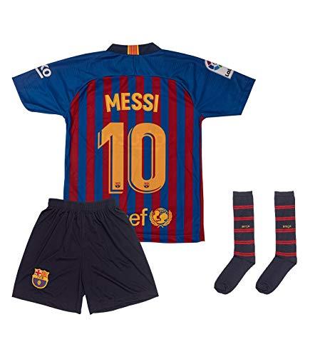 ATB Barcelona 2018/2019#10 Messi Heim Kinder Fußball Trikot und Shorts mit Socken Kinder und Jugend Größe