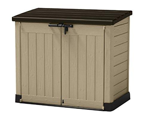 Koll Living Garden Mülltonnenboxen von 848- bis 2020 Liter wählbar - aus Wetter- & UV-festem Kunststoff - mit Gasdruckfedern und Belüftungsystem (Typ...