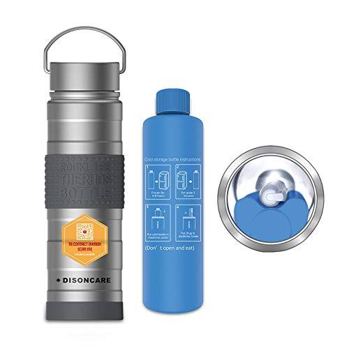 DISONCARE Insulin-Kühltasche Travel, Insulin-Kühler, Halten Sie Insulin bei 2-8 Grad 35 Stunden, Medizinische Kühltasche, Große Kapazität, Silber