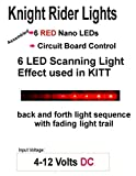 Knight Rider LED Scrolling Circuit for KITT Car or Cylon Raiders - Diecast Models, R/C, Drones - Runs on a 9 Volt Battery (Red)