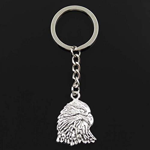 WYNYX Mode Schlüsselbund 34x24mm Adler Falke Silber Anhänger DIY Männer Schmuck Auto Schlüsselanhänger Ringhalter Souvenir für Geschenk