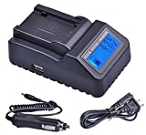 LCD Quick Battery Charger for JVC Everio GZ-MG330AU, GZ-MG330AUS, GZ-MG330HU, GZ-MG330HUS, GZ-MG330RU, GZ-MG330RUS, GZ-MG360BU, GZ-MG360BUS, GZ-MG365BU, GZ-MG365BUS Camcorder