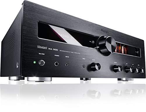 Magnat MA 900, schwarz - robuster Stereo Hybrid-Verstärker mit hochwertiger Aluminium-Front und hoher Ausgangsleistung für perfekten Stereoklang