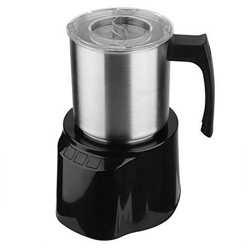 Macchina per montalatte e vapori automatici, scalda schiuma in acciaio inox caldo e freddo con strato interno antiaderente e design a bottone(EU plug)