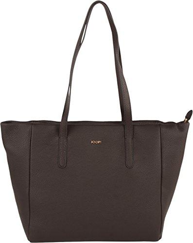 JOOP! Elegante Henkeltasche | Damen-Shopper aus Nappa-Leder | dunkelbraune Handtasche mit Reißverschluss