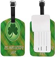 聖パトリックの日グリーンクローバー荷物タグトラベルバッグタグスーツケース1個