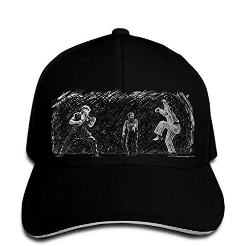 FLORVEY Basskappen Basecap Karate Kid Final Fight Sketch Crane Kick Herren Baseball Cap