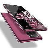 X-level Samsung Galaxy S20 Ultra Hülle, [Guardian Serie] Soft Flex TPU Hülle Superdünn Handyhülle Silikon Bumper Cover Schutz Tasche Schale Schutzhülle für Samsung Galaxy S20 Ultra 5G - Weinrot