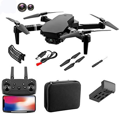 E58 Pro Drohne mit Kamera 4K/1080P HD WiFi FPV RC Pocket Quadrocopter App-Steuerung Automatische Start/Landung/Höchenhaltung Kopflos Modus Faltdrohne für Anfänger (Doppellinse 4K)
