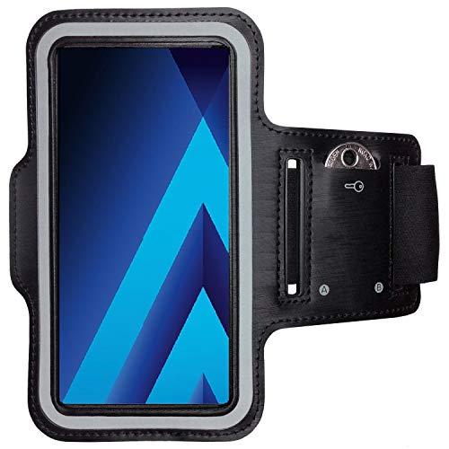 CoverKingz Sportarmband für Samsung Galaxy A5 - Armtasche mit Schlüsselfach Galaxy A5 - Sport Laufarmband Handy Armband Schwarz