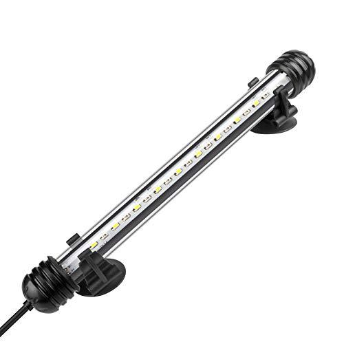 IREENUO LED Aquarium Beleuchtung, Aquarium Tauchlampen mit Timer, Blaue und Weiße Farbwechsel Unterwasser Licht für 20–60 cm Tank