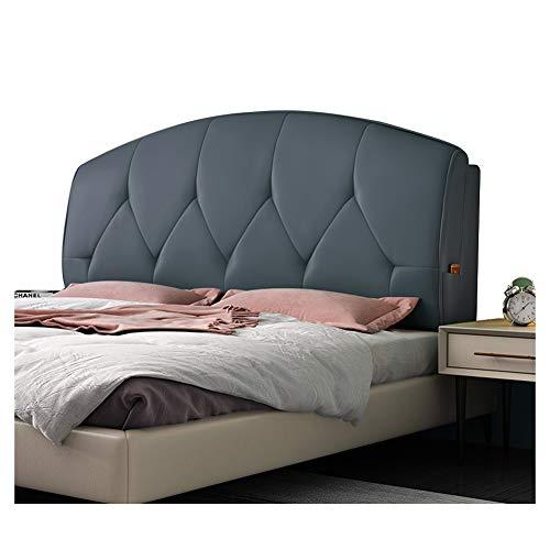 PENGFEI sänggavel säng ryggkudde läsning ryggstöd sängkant mjukt skydd midja stoppad förvaringsväska design lätt att rengöra, 7 storlekar 160cm BLÅ