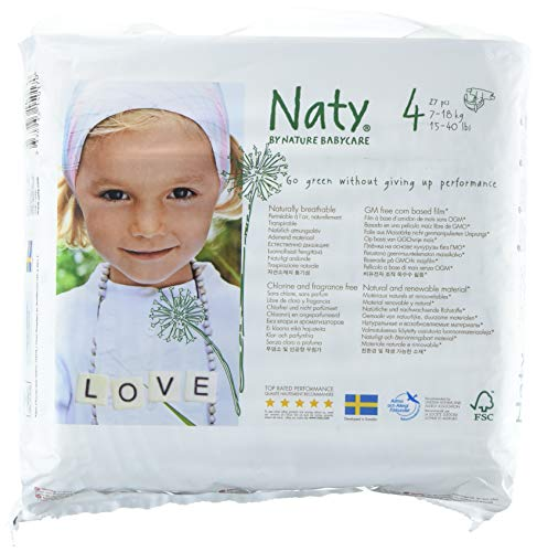 Naty by Nature Babycare Eco-Friendly Premium Disposable Diapers for Sensitive...