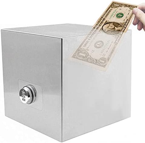 Password Stainless Steel Piggy Bank Money Safe Box Digital Cash Coin Jar for Kids Reuse Strong product image
