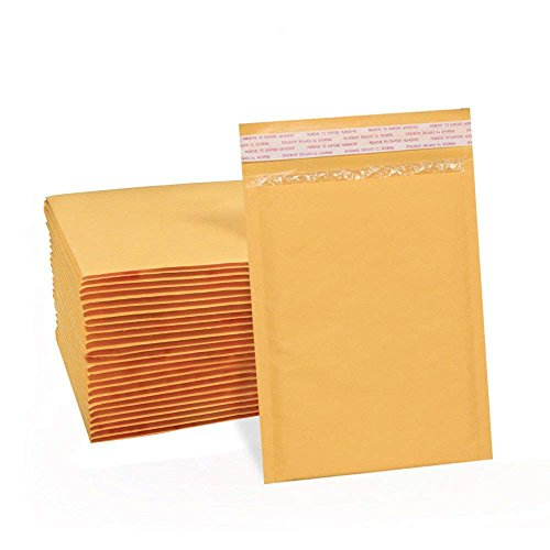 UCGOU 6x10 Inch Padded Envelopes Kraft Bubble Mailers Yellow Bubble Envelopes Pack of 50