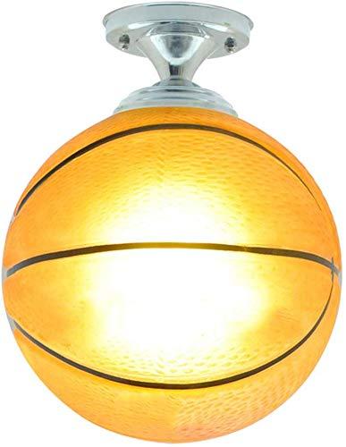 CattleBie Moderna de techo de luz LED de la lámpara de techo Sala Infantil pantalla de cristal creativo de la lámpara redonda Baloncesto Decoración Iluminación vivero decoración de interiores de los m