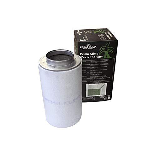 Prima Klima Eco Carbon Filter 1300 m³ / h 250 mm - filtro de carbón activado AKF tubo ventilador cultivo cultivo ventilación interior filtro de olores filtro de aire de escape (170 m³/h, 100 mm)