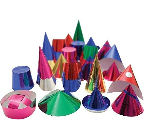 feesthoedjes divers 6 stuks multicolor