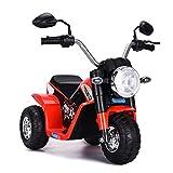 COSTWAY Elektro Motorrad, Kindermotorrad batteriebetrieben, Elektromotorrad mit Stützrädern, Kinder Motorrad, Kinderfahrzeug 57x72x56 cm (rot)