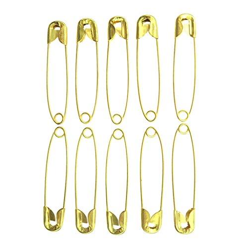 Sharplace 500pcs Goupilles de Sûreté Fait de Fer de Haute Qualité Utilisé dans Vêtements Textiles de Maison Sacs à Main Sacs Et Plus - Or 4.3cm