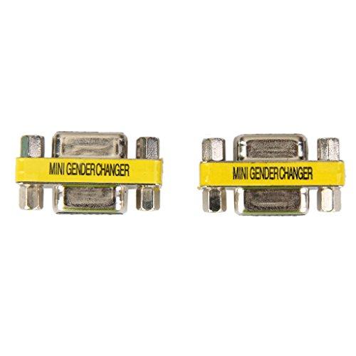 H HILABEE 2 Unids 9 Pines DB9 Hembra A RS-232 Adaptador De Cambiador De Género para Cable Serial Femenino
