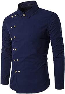 Jeevaan Men's Plain Solid Slim Fit D Cross Cotton Causal Shirt