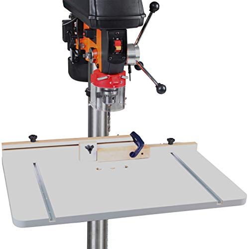 WENWORX Large Drill Press Table 20 x 30 Inch With Adjustable Fence for Maximum Holding Power Include 2 T-tracks