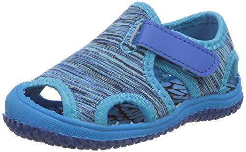 MAOGO Jungen Outdoor Sandalen Mädchen Klettverschluss Strand Beach Sandalen Kinder Aquaschuhe Sommer Strandschuhe (Blau, Numeric_28)