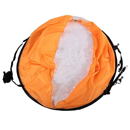 SANON PVC Plegable Portátil a Favor del Viento Paleta de Viento Tabla Emergente Kayak Kit Accesorios para Veleros (Naranja)
