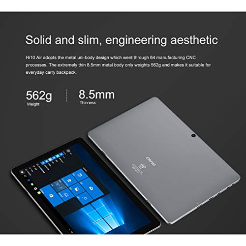 CHUWI Hi10 Air Tablet PC 4GB+64GB 10.1 inch Windows 10 OS Intel Cherry Trail-T3 Z8350 Quad Core up to 1.92GHz Support G-Sensor, Bluetooth, WiFi