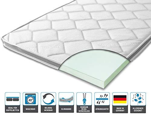 ARBD Matratzenauflage - Topper | Modelle mit 7-12cm Gesamthöhe | waschbarer Bezug mit 3D-Mesh-Klimaband (H4-7 cm, 140 x 200 cm)