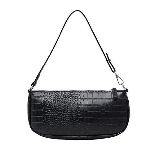 Retro Krokoprägung Baguette Bag, Fashion Schultertasche,Kleine Handtaschen,Damen Schultertasche Krokodilmuster Leder Baguette Unterarm-Paket,Damen Umhängetasche