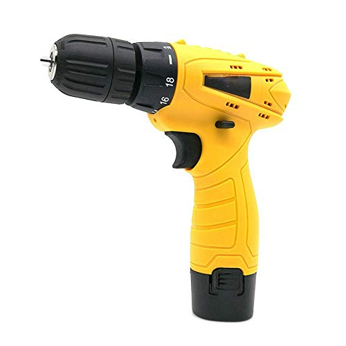 Sturdy Rechargeable Hand Drill, Multi-function Household Lithium Drill, Miniature Electric Screwdriver (Color : Yellow)