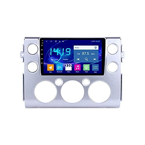 GPS Navigation Car Estéreo Para Toyota FJ Cruiser 2007-2018 Auto Multimedia Player Video Sat NAV FM Radio Receptor 1080P HD Pantalla Táctil Con Wifi Bluetooth Mirrorlink SWC USB,4 core 4g+wifi: 2+32gb