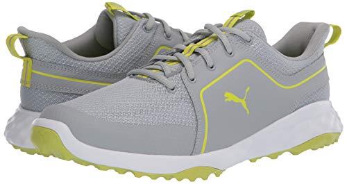 PUMA Men's Grip Fusion Sport 2.0 Golf Shoe, High Rise-limepunch, 13 UK