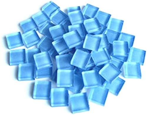 FireAngels Bastelmaterial Mosaik-Fliese, Mikro-Glas, kleine Mini-Mosaik-Fliese, DIY-Hobbys, Kinder, handgefertigt, kristallfrei, Stein-Material, Kreativität, 300 g (Himmelblau)