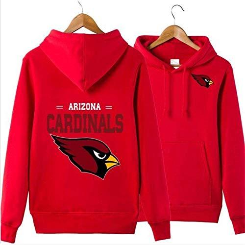 Sudadera unisex para hombre Arizona Cardinals Rugby Fans Jersey Marea marca Casual Sudadera con capucha manga larga primavera chaqueta roja (talla M: M)