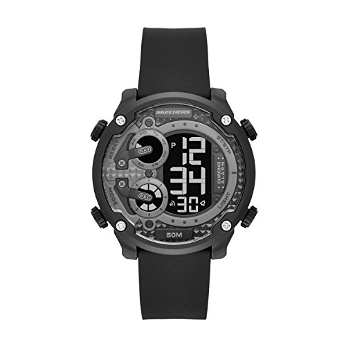 Skechers Men's Quartz Plastic Casual Watch, Color:Black (Model: SR5116)