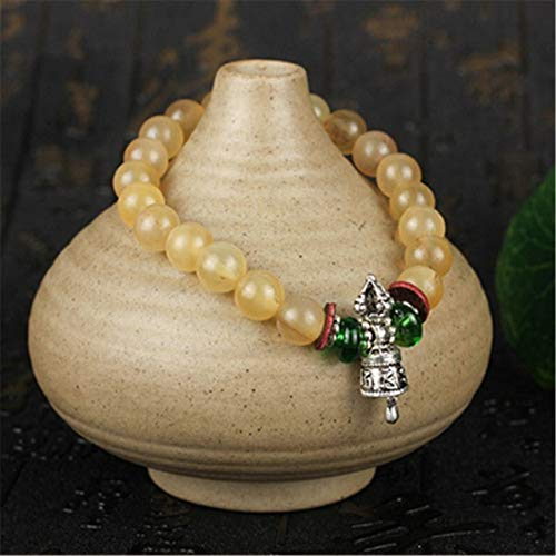 ASFADSFH Natuurlijke Geit Beaded Armband Bloed Zijde Ijs Schapen Kralen Boeddhistische Vajra Bedel Armband Mannen Of Vrouwen Sieraden