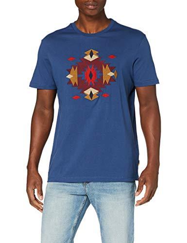 Springfield 5Mi Embroidery-c/13 Camiseta, Azul (Medium_Blue 13), M (Tamaño del Fabricante: M) para Hombre