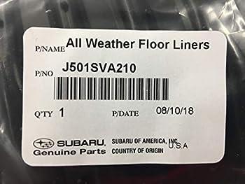 Subaru 2019 All Weather Floor Mats WRX STI J501SVA210 OEM Genuine Set of 4 New