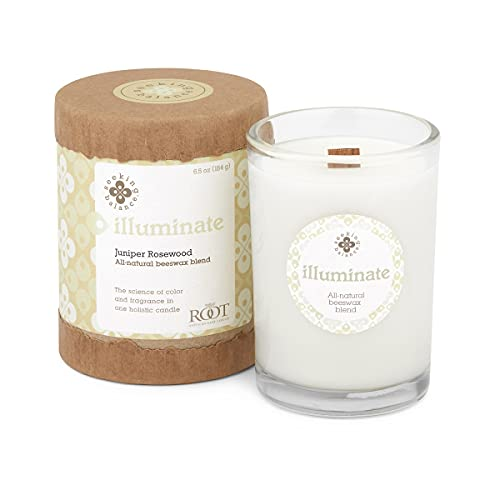 Root Candles Seeking Balance Small Spa Candle, 6.5-Ounce, Illuminate: Juniper Rosewood
