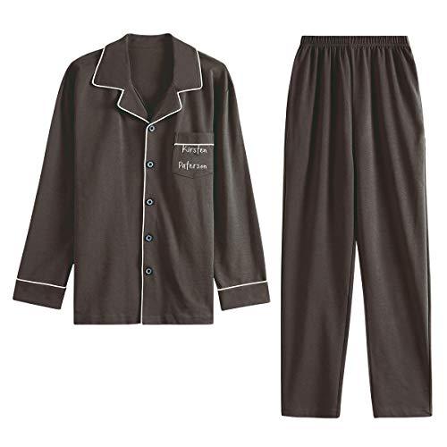 GOSO Conjuntos de Pijamas para niños-Pijamas de algodón para niños 9 10 11 12 13 14 15 años Invierno cálido para Adolescentes Pijamas con Botones Manga Larga Ropa de Dormir para niños Grandes