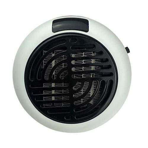 INTELZY Mini Calentador de Ventilador Cerámica de Baño Termostato Regulable, Protección sobrecalentamiento, Calentador Rápido para Habitación, Oficina, Baño,Blanco,US