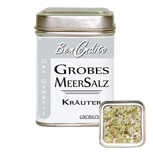 Kräutersalz - Meersalz mit mediterrane Kräuter | Fa. BenCondito | 120 Gramm in der Salzdose